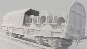 Simms Covered Coil Car 3D Model 11