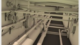 Underground Sewer Pipes 3D Model