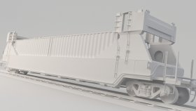 Container Train Pocket Wagon DTTX 3D Model 14