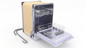Built-in Dishwasher 3D Model 5