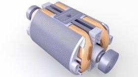 Electric Motor Rotor Generator 3D Model 32