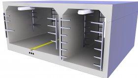Concrete Tunnel Technical Underground 3D Model 21