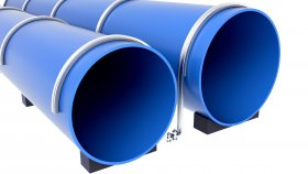 Pipes Sewer Water Support 3D Model 16