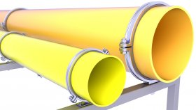 Pipes Gas Sewer Water Support 3D Model 17
