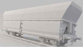 Coal Open Hopper 3D Model Low Flans 15