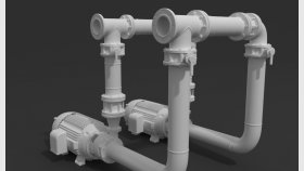 Water Pumping Station 3D Model 1