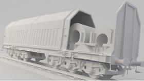 Sahimms-u Covered Coil Car 3D Model Low 16