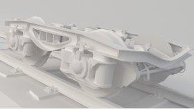 Train Bogie Low 3D Model 1