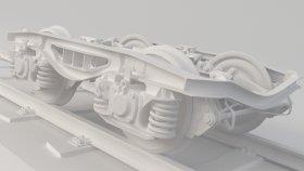 Train Bogie 3D Model 1