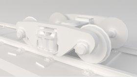 Train Wheel Bogie Low 3D Model 3