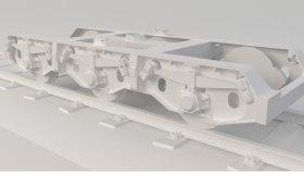 Train Bogie Low Poly 3D Model 4