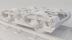 Train Rail Bogie 3D Model 5