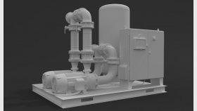 Sewage Pumping Station 3D Model 2