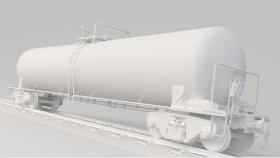 Lowpoly Train Tanker Oil & Petrol Diesel & Gas 3d (2)