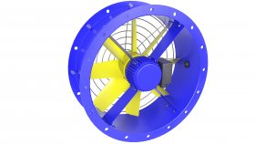 Cooling Fan for Distribution Power Transformer 3D Model 38