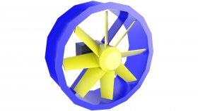 Cooling Fan LowPoly 3D Model 39