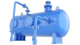 Horizontal Pressure Tank Gas & Air 3D Model 58