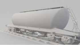 Powder Car & Silo Cement Wagon 3D Model Low Uacs 5