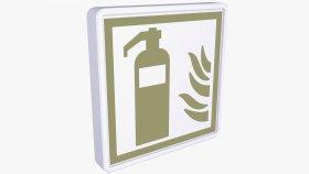 Symbol Sing Fire Extinguisher 3D Model 14