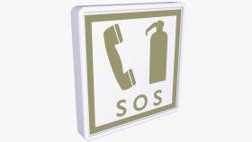 Symbol Sing Phone & Fire Extinguisher SOS 3D Model 16