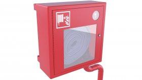 Wall Emergency Fire Hose Box 3D Model 14
