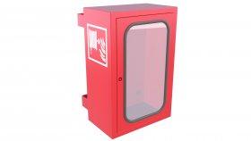 Emergency Fire Hose Box Window 3D Model 16