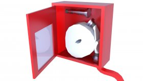 Emergency FireHose Box LowPoly Game 3D Model 14