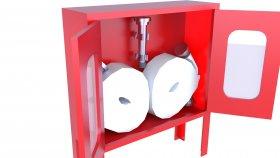 Low-Poly 3D Model Emergency Fire Hose Box 15