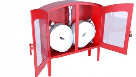 Low Polygon Outdoor Emergency Fire Hose Box 3D Model 22