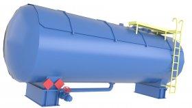 Horizontal Oil Tank Low Poly 3D Model 8