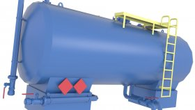 3D Storage Fuel Oil Tank Low Poly Game 15
