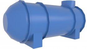 Underground Sewage Reservoir Water Tank Low Poly 18