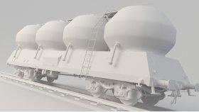 Dust Silo Wagon 3D Model Uacs Low 8
