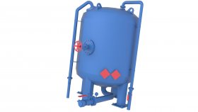 Low Poly Game 3D Vertical Pressure Tank Air Gas 22