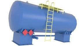 Storage Fuel Oil Tank Low Poly Simulator 3D 19