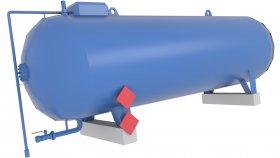 Storage Liquid Gas Tank Low Poly 3D Model 23