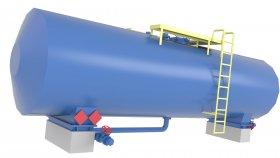 Storage Paraffin Tank Low Poly 3D Model 26