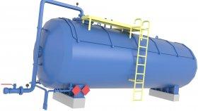 Liquid Storage Tank LNG LPG Low Poly 3D Model 27