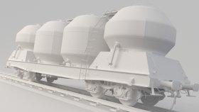 Cement Silo Train 3D Model Uacs 9