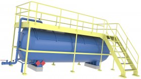 Liquefied Gas Tank Industrial Service Platform Low Poly 3D 37