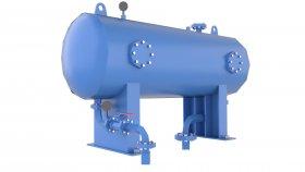 Storage Vessel Tank Compressed Air Low Poly 3D 52