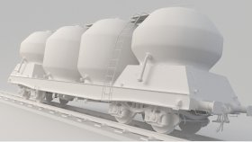 Cement Silo Train Game Mods 3D Model Uacs 9