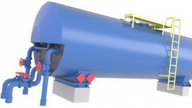 Oil Storage Tank LowPoly 3D 63