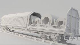 SIS Steel Reel Train 3D Model Game 17