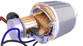 3D Model Electric Motor Rotor Stator 34