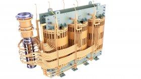 Oil Immersed Transformer Core Coil Windings 3D Model 70