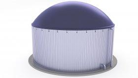 Biogas Plant 3D Model 1