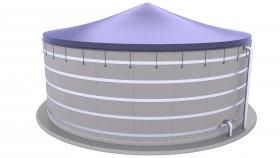 Concrete Biogas Plant 3D Model 2