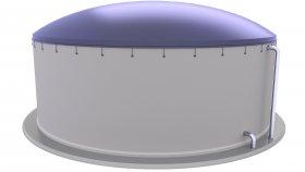 Concrete Biogas Tank 3D Model 3