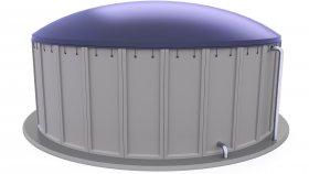 Prefabricated Concrete Biogas Plant 3D Model 4